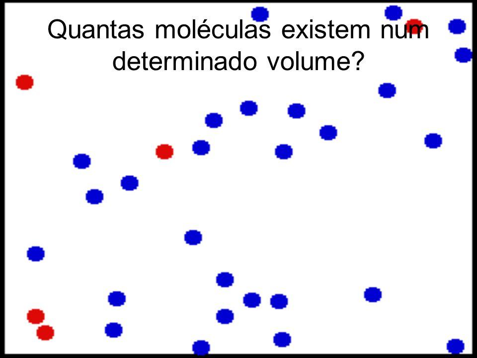 Quantas moléculas existem num determinado volume?