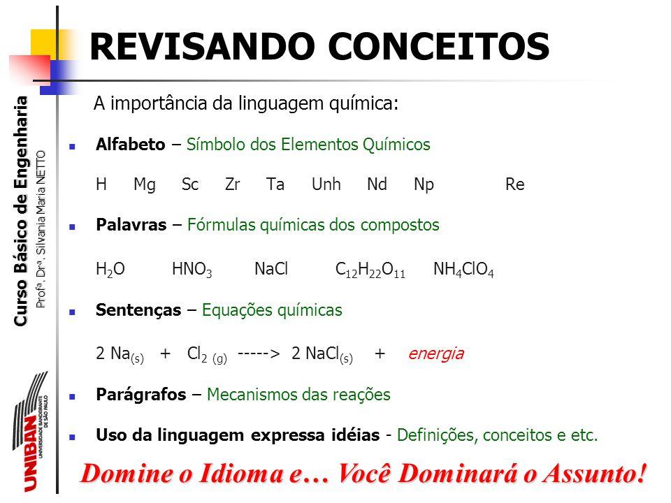 Silvania Maria Netto Universidade Bandeirante de São Paulo Conceitos decorrentes da Teoria Atômica Molecular ESTRUTURA GERAL da MATÉRIA Chemistry: The