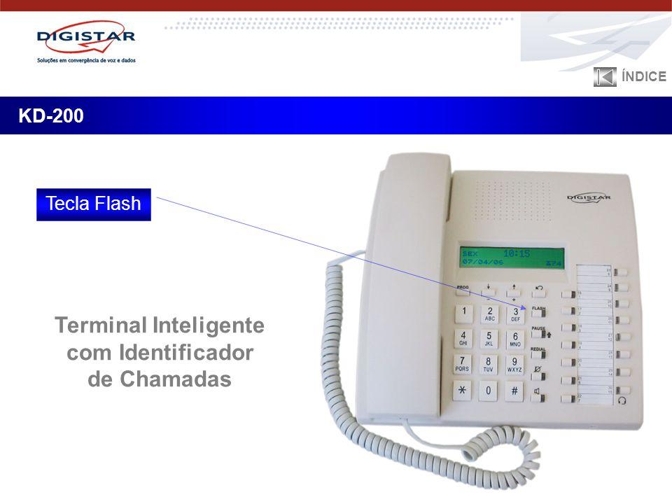 KD-200 ÍNDICE Tecla Flash Terminal Inteligente com Identificador de Chamadas