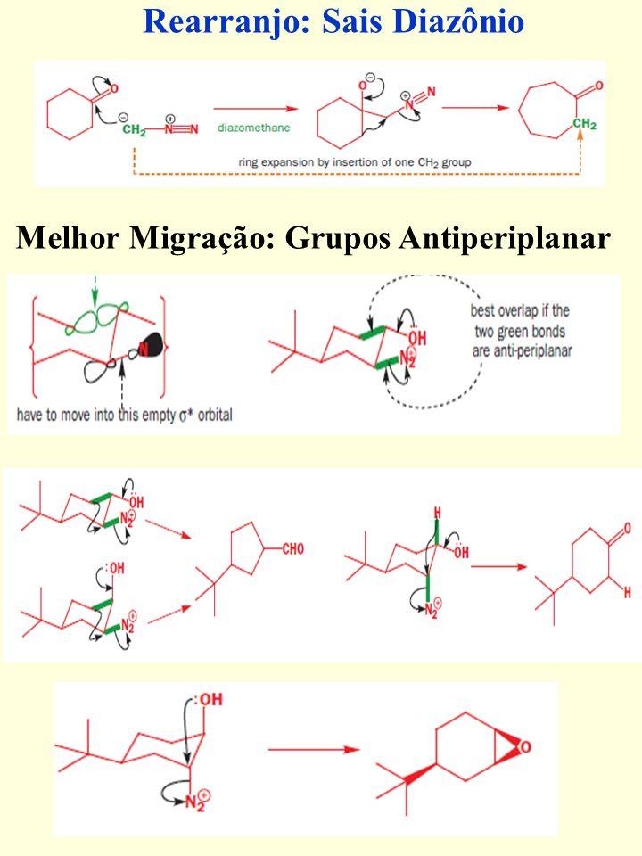 Rearranjo: Sais Diazônio Melhor Migração: Grupos Antiperiplanar
