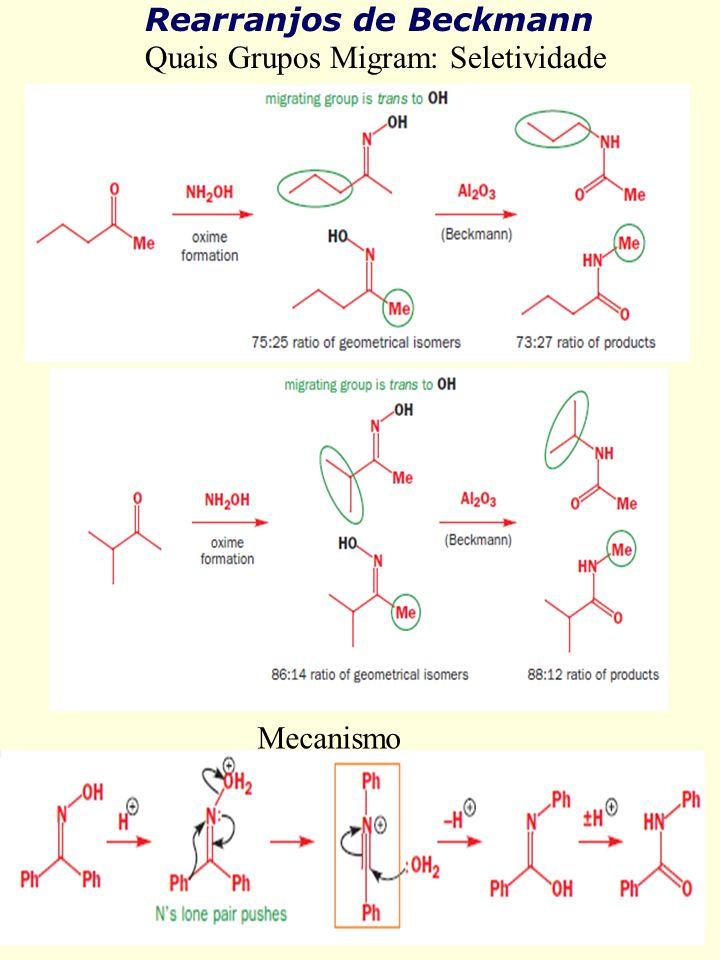 Rearranjos de Beckmann Quais Grupos Migram: Seletividade Mecanismo