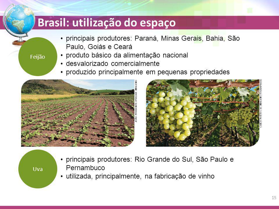 Brasil: utilização do espaço principais produtores: Paraná, Minas Gerais, Bahia, São Paulo, Goiás e Ceará produto básico da alimentação nacional desva