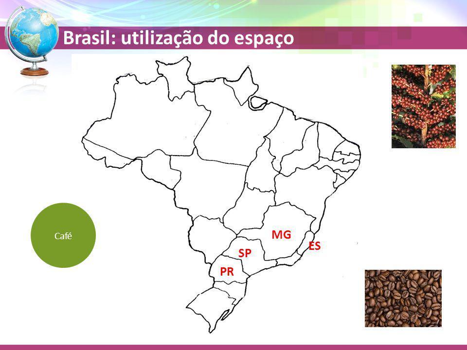 Brasil: utilização do espaço MG SP ES PR Café