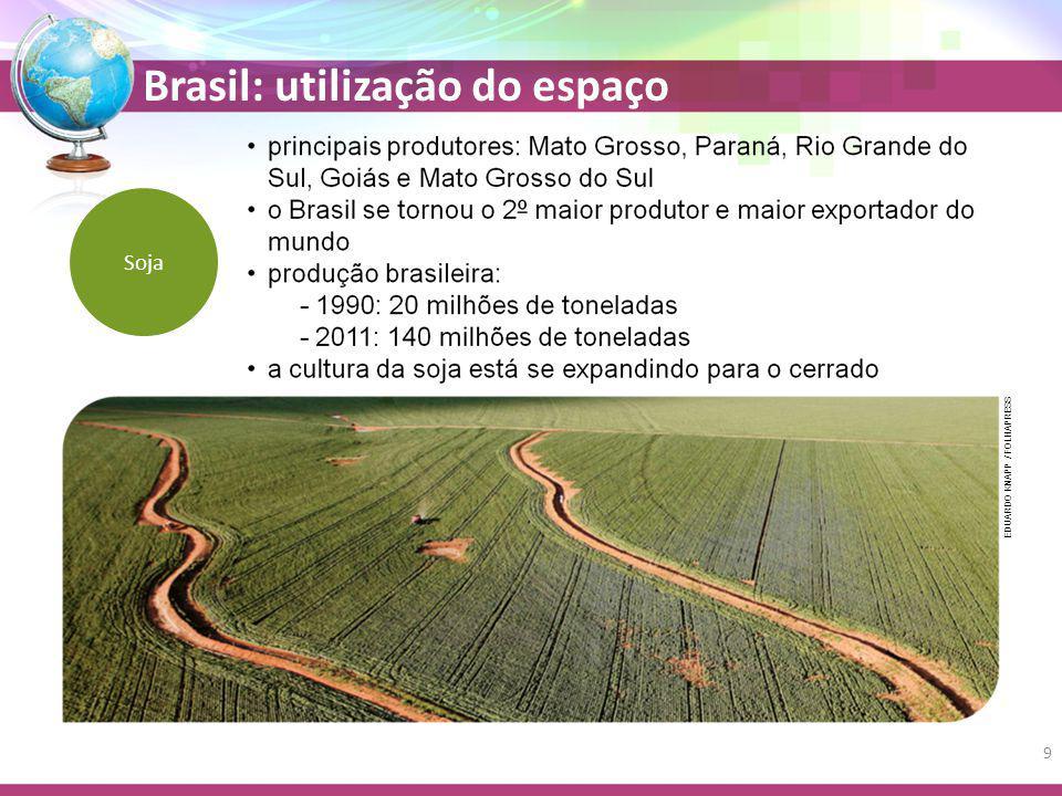 Brasil: utilização do espaço Soja EDUARDO KNAPP / FOLHAPRESS 9