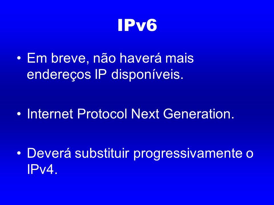 IPv6 Em breve, não haverá mais endereços IP disponíveis.