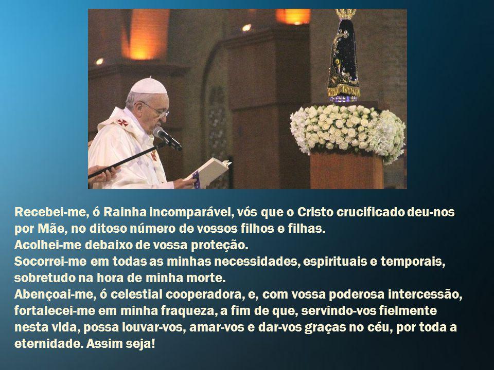 Consagração a Nossa Senhora Ó Maria Santíssima, pelos méritos de Nosso Senhor Jesus Cristo, em vossa querida imagem de Aparecida, espalhais inúmeros b