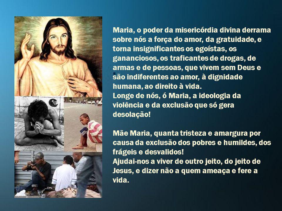 Por Maria, a Jesus.Maria, quem poderá nos separar do amor de vosso Filho Jesus.