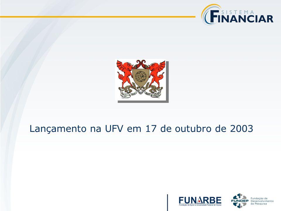 Lançamento na UFV em 17 de outubro de 2003