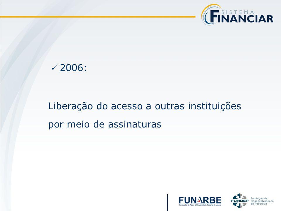 2006: Liberação do acesso a outras instituições por meio de assinaturas