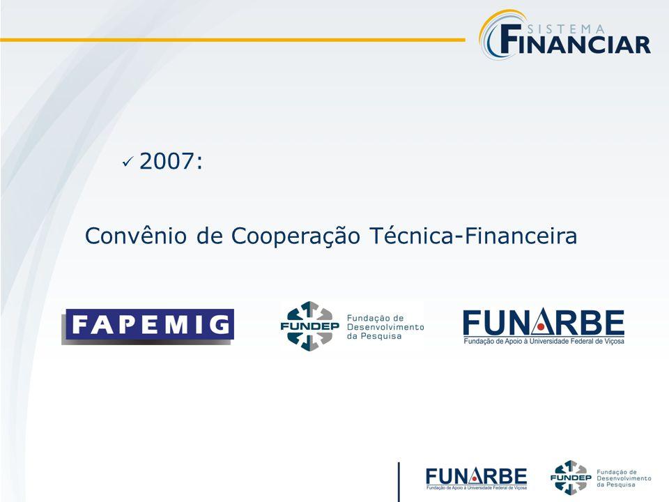 2007: Convênio de Cooperação Técnica-Financeira