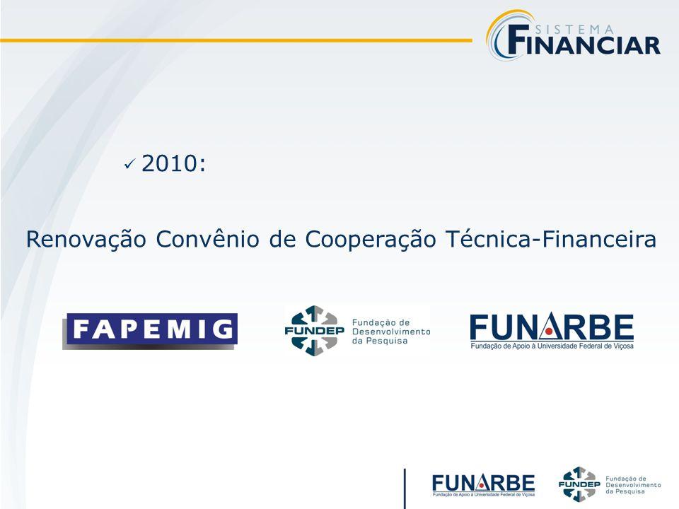2010: Renovação Convênio de Cooperação Técnica-Financeira