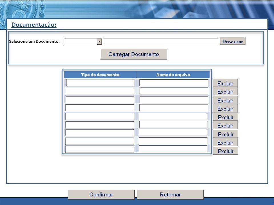 PLONE - 2007 Documentação: Selecione um Documento: Tipo do documentoNome do arquivo