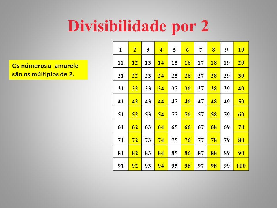 Divisibilidade por 2 12345678910 11121314151617181920 21222324252627282930 31323334353637383940 41424344454647484950 51525354555657585960 616263646566