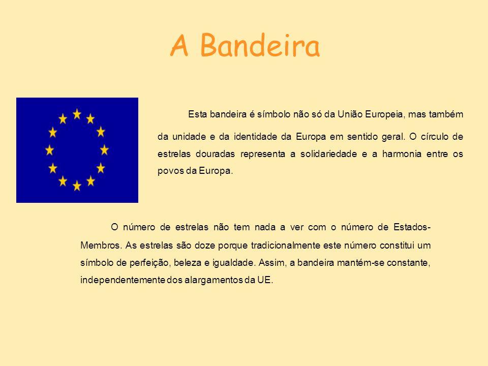 O Hino O hino europeu não é apenas o hino da União Europeia, mas de toda a Europa num sentido geral.