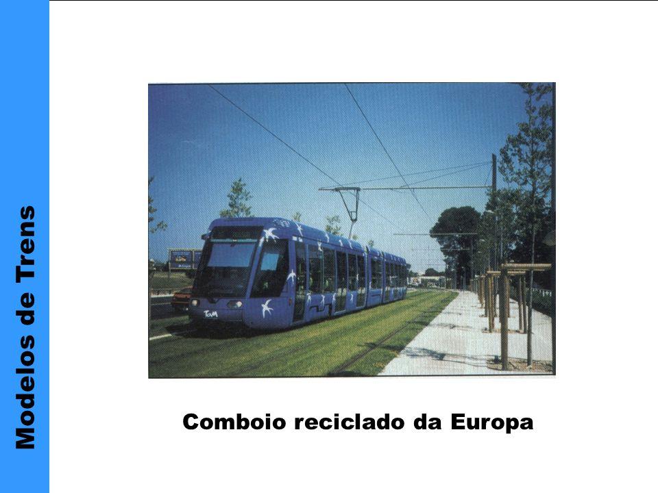 Modelos de Trens Comboio reciclado da Europa