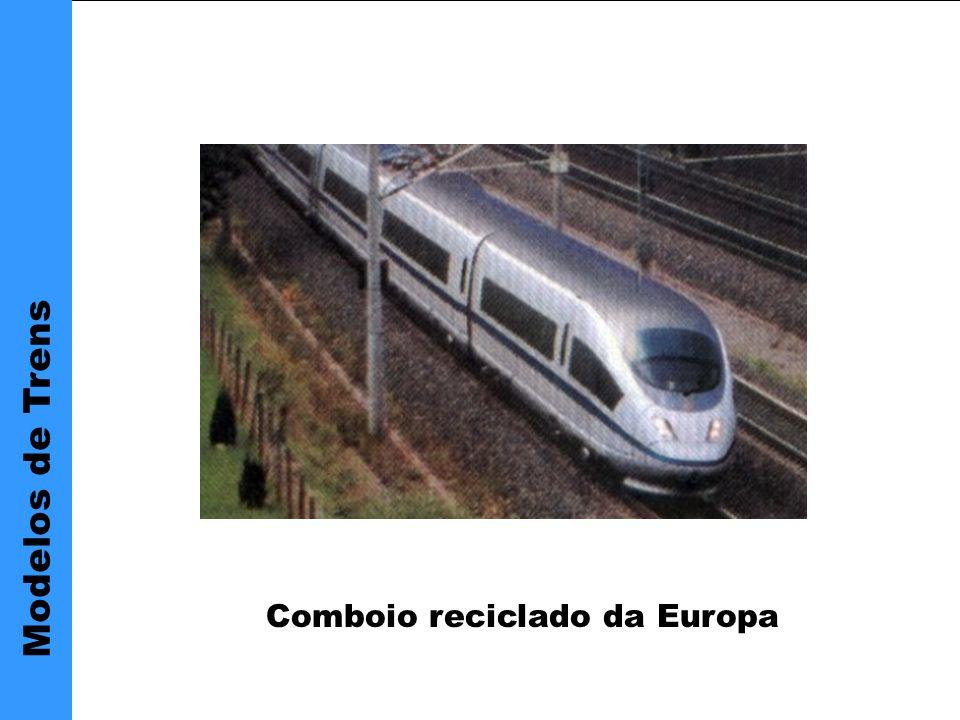 Principais vantagens Modelos de Trens Comboio reciclado da Europa