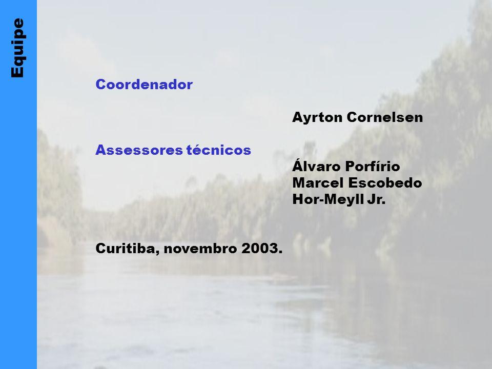 Equipe Coordenador Ayrton Cornelsen Assessores técnicos Álvaro Porfírio Marcel Escobedo Hor-Meyll Jr.