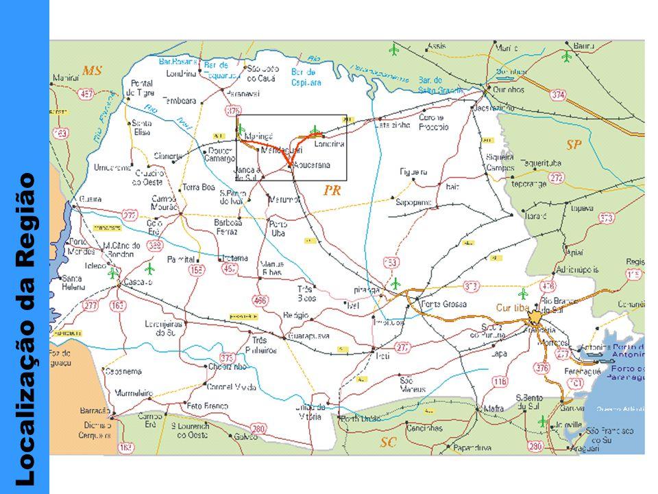 Localização da Região