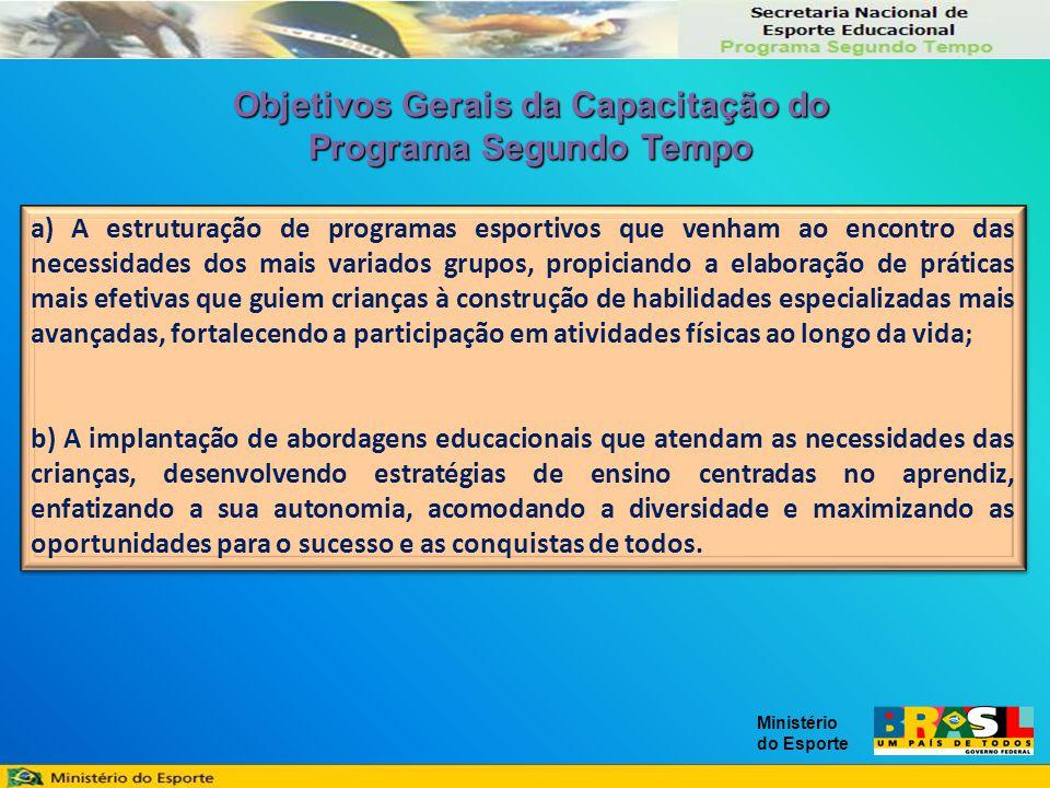OBJETIVO DAS EQUIPES COLABORADORAS Constituir um processo permanente de acompanhamento pedagógico e administrativo das ações desenvolvidas nos Núcleos do Programa Segundo Tempo.