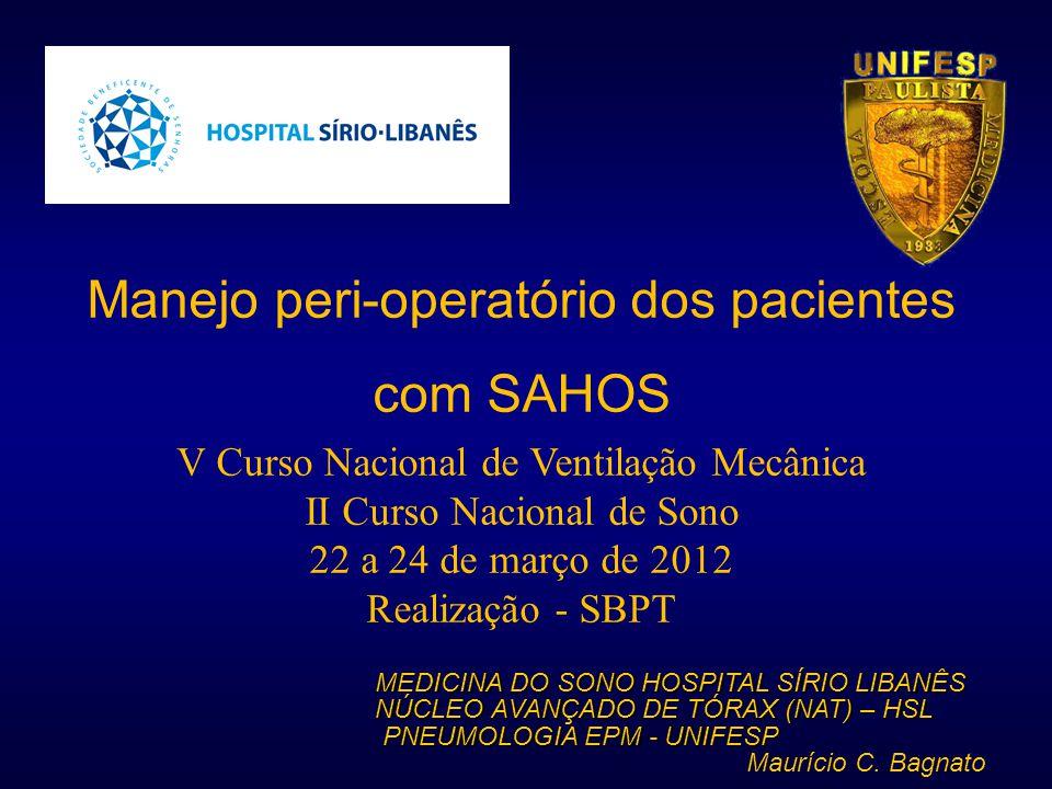 MEDICINA DO SONO HOSPITAL SÍRIO LIBANÊS NÚCLEO AVANÇADO DE TÓRAX (NAT) – HSL PNEUMOLOGIA EPM - UNIFESP PNEUMOLOGIA EPM - UNIFESP Maurício C. Bagnato M