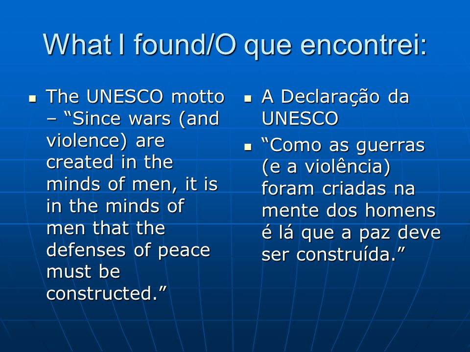 What I found/O que encontrei: Most Rotary Programs indirectly contribute to peacebuilding (eg.