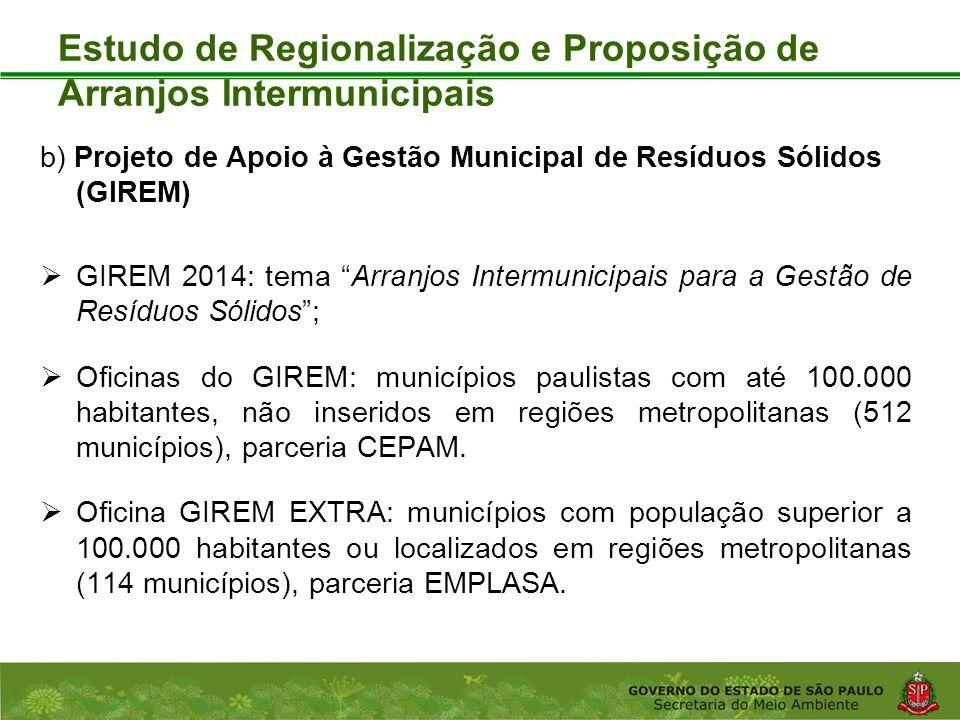 Coordenadoria de Planejamento Ambiental Departamento de Informações Ambientais Centro de Integração e Gerenciamento de Informações Estudo de Regionali