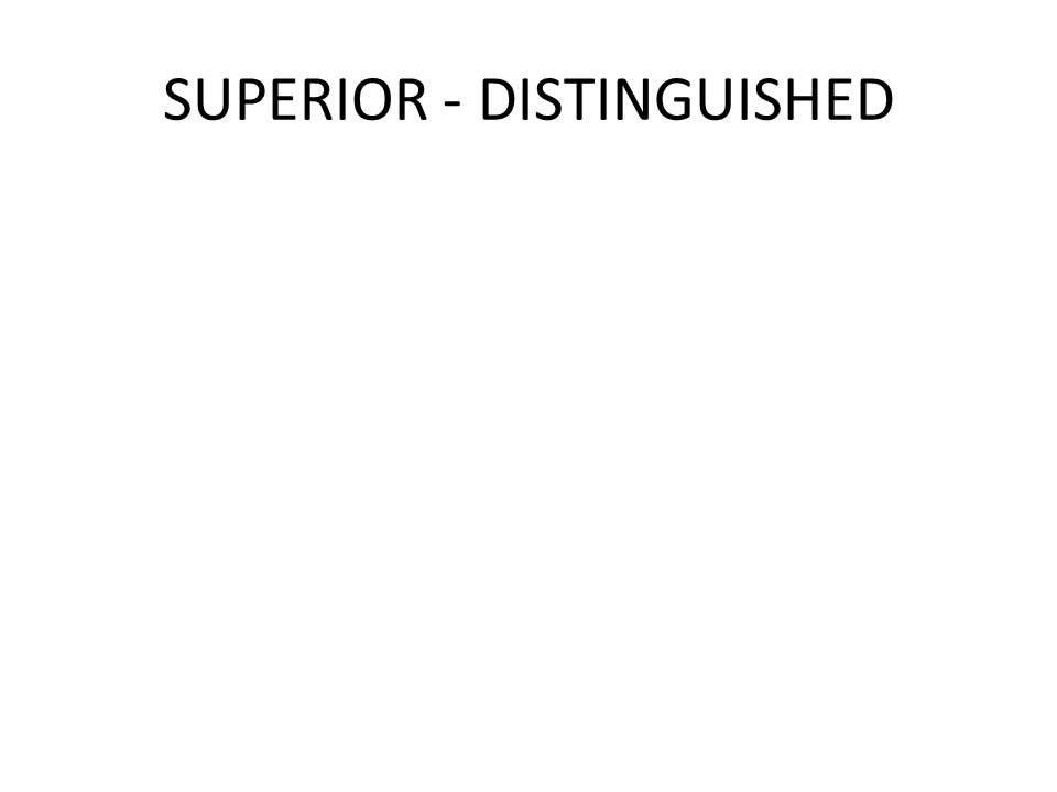 SUPERIOR - DISTINGUISHED