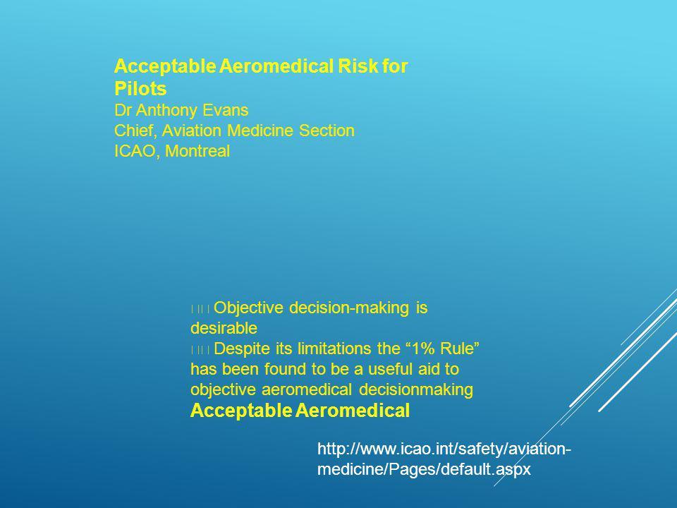 VOCÊ VOARIA COM ESTE PILOTO .CARDIOVASCULAR  Piloto, homem, 50 anos, 20.000 horas de voo.