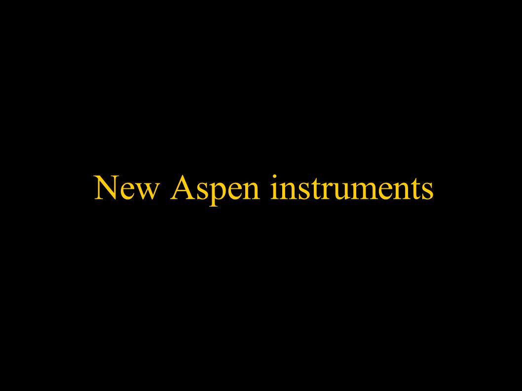 New Aspen instruments