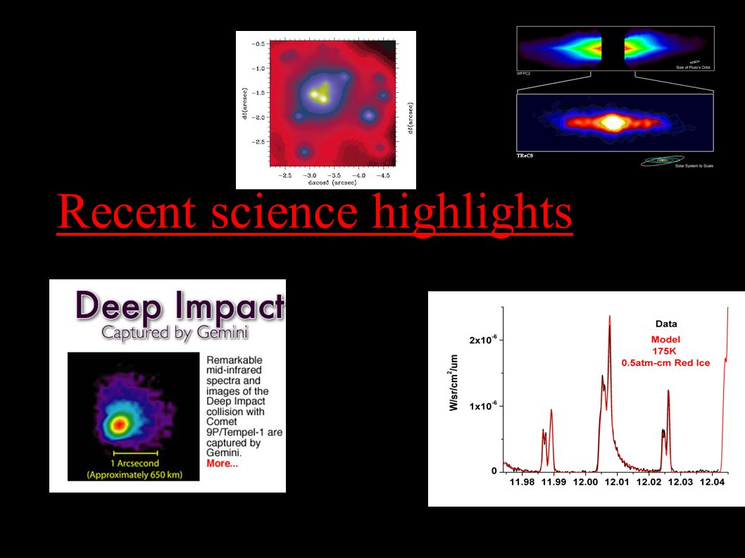 Recent science highlights July 2005 report R=20,000 spectrum of Neptune