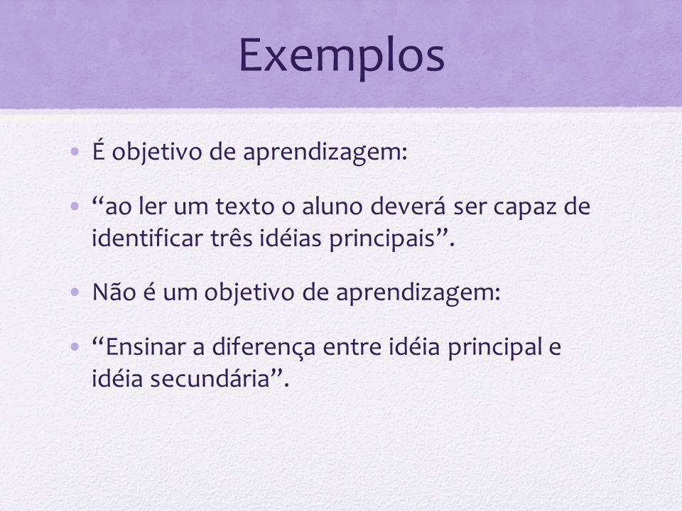 Condições de desempenho As condições de desempenho especificam as circunstâncias sob as quais o comportamento deve ser demonstrado.