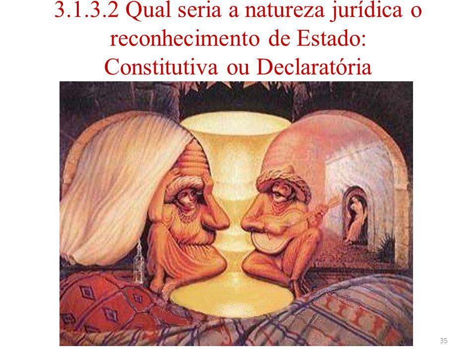 3.1.3.2 Qual seria a natureza jurídica o reconhecimento de Estado: Constitutiva ou Declaratória Luiz Albuquerque35