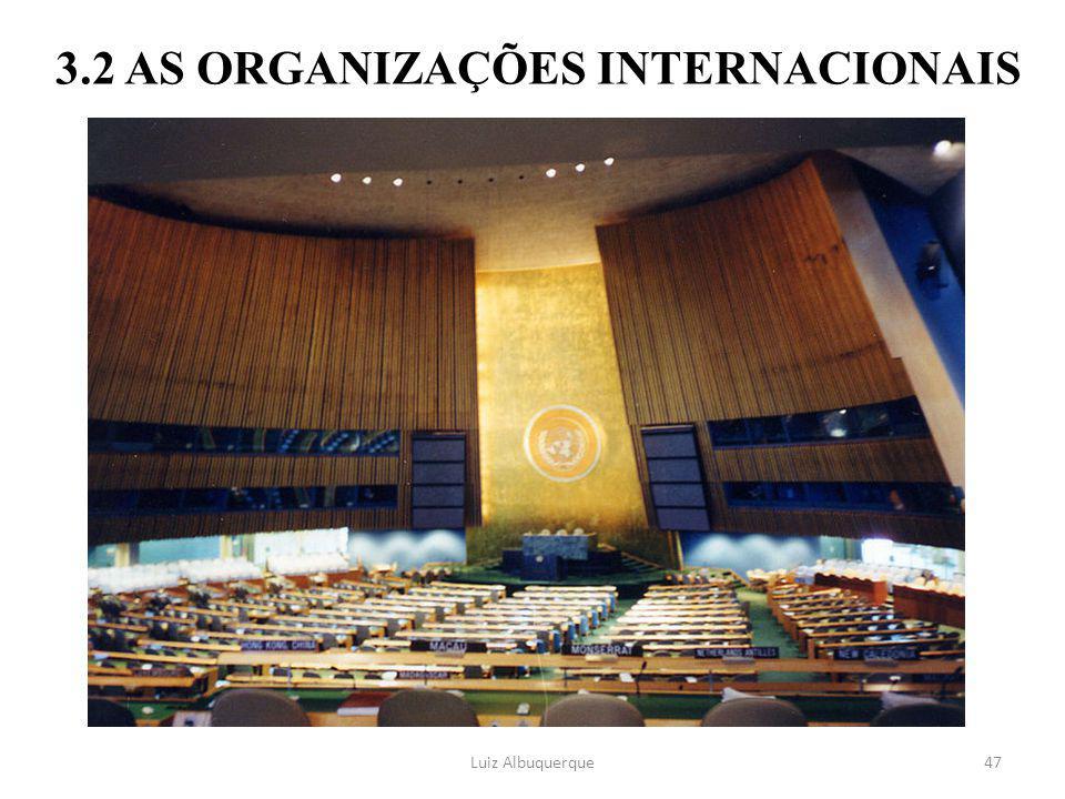 47 3.2 AS ORGANIZAÇÕES INTERNACIONAIS Luiz Albuquerque