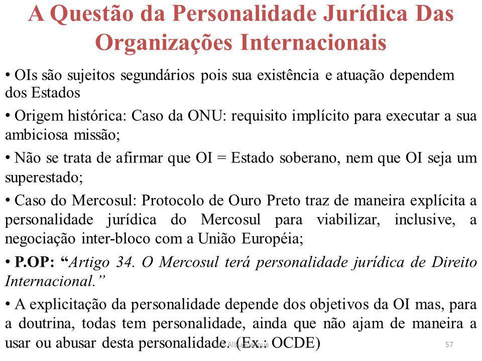 57 A Questão da Personalidade Jurídica Das Organizações Internacionais OIs são sujeitos segundários pois sua existência e atuação dependem dos Estados