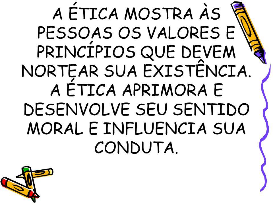 ÉTICA E MORAL A moral é objeto da Ética.