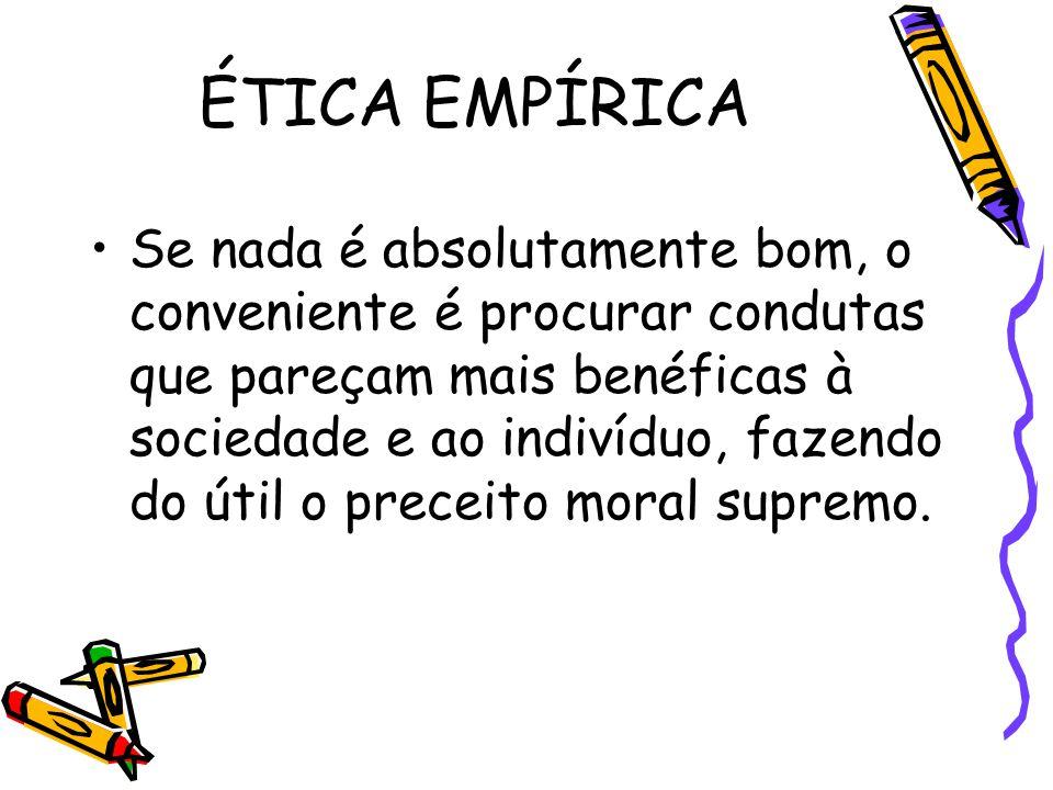 A realização dos valores: estes são princípios da esfera ética real.