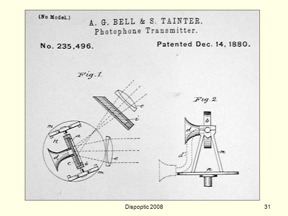 Dispoptic 200830 Graham Bell 1880 - fotofone primeira transmissão de voz, através de luz não guiada