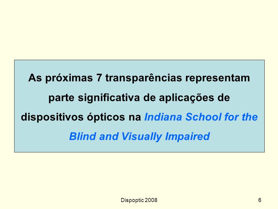 Dispoptic 20085 Lente composta como dispositivo ergonômico Sem dispositivo óptico Dor de cabeça, coluna,... Com dispositivo óptico Dispositivo óptico