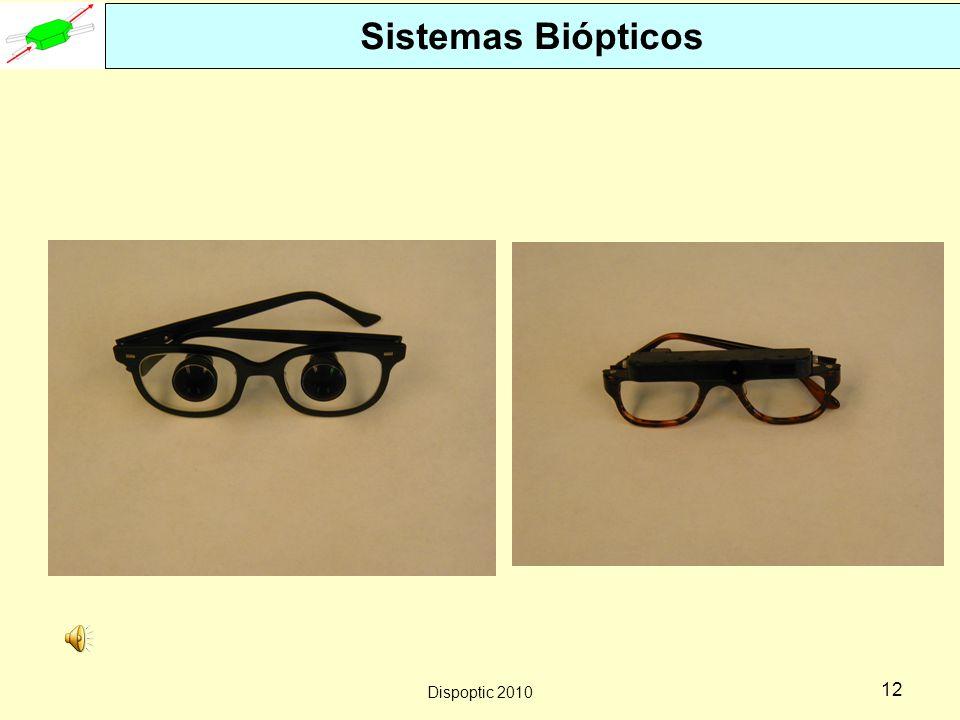 Dispoptic 2010 11 Sistemas Biópticos de Campo Inteiro Telescópio montado sobre óculos