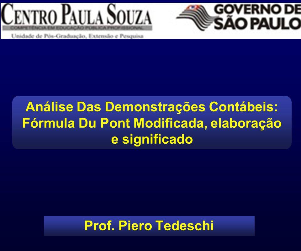 Prof. Piero Tedeschi Análise Das Demonstrações Contábeis: Fórmula Du Pont Modificada, elaboração e significado