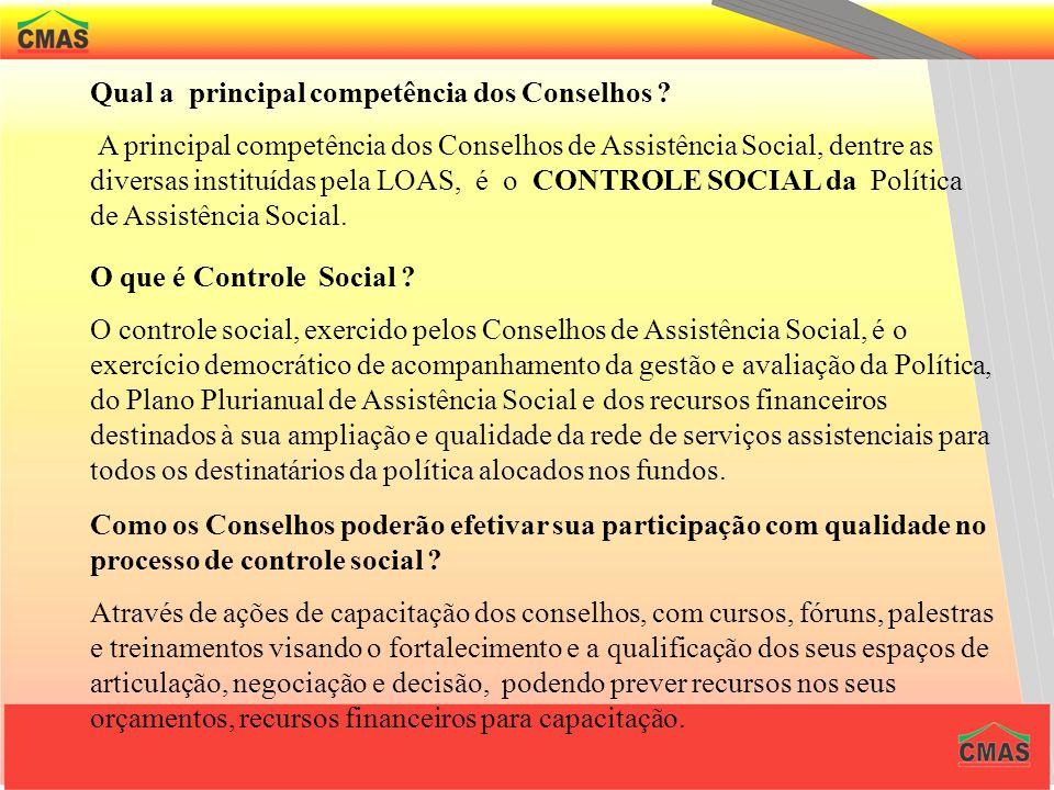 2.2 – Qual é a composição do Conselho ? A composição do Conselho conta com representantes governamentais e não governamentais – em número estabelecido