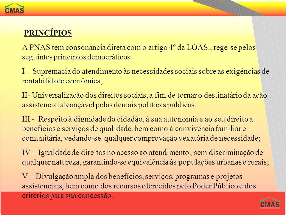 A proteção social deve garantir as seguintes seguranças: A segurança de rendimentos : garantia monetária mínima. A segurança da acolhida : direito à a