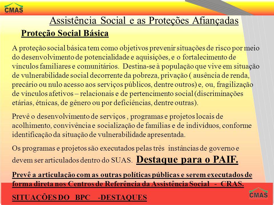 USUÁRIOS Constitui o público da Política de Assistência Social, cidadãos e grupos que se encontram em situações de vulnerabilidade e riscos, tais como