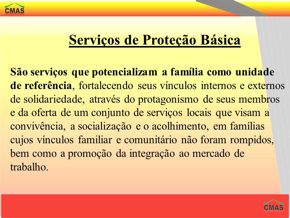 Centros de Referência de Assistência Social e Serviços de Proteção Básica O CRAS é uma unidade estatal local, territorial, em áreas de vulnerabilidade