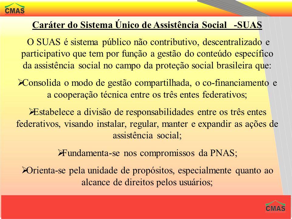 NORMA OPERACIONAL BÁSICA / SUAS A Norma Operacional Básica – NOB nº 001/2005 disciplina a gestão pública da política de assistência social no territór