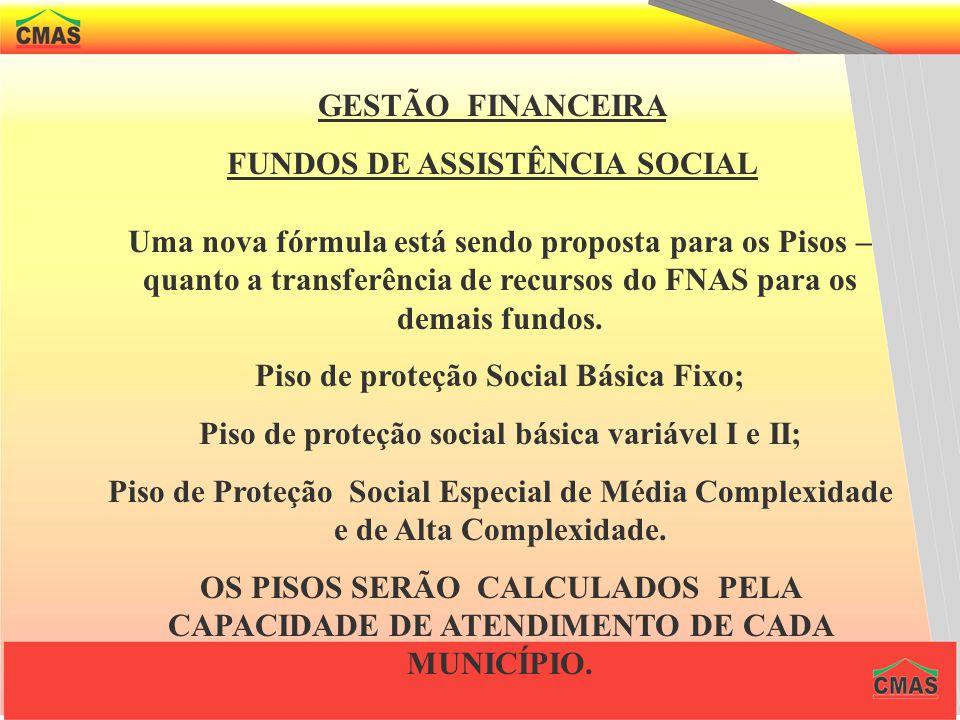 GESTÃO FINANCEIRA FUNDOS DE ASSISTÊNCIA SOCIAL A instituição dos fundos caracteriza uma forma de gestão transparente e racionalizadora de recursos, qu