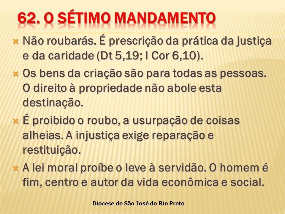 Diocese de São José do Rio Preto  Não roubarás.
