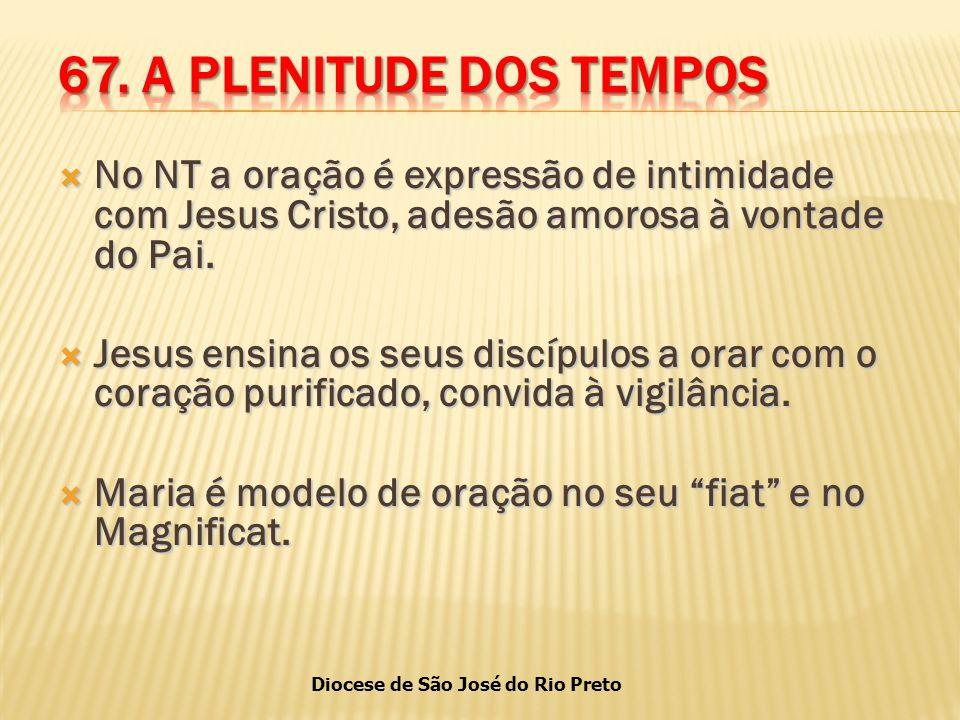 Diocese de São José do Rio Preto  No NT a oração é expressão de intimidade com Jesus Cristo, adesão amorosa à vontade do Pai.