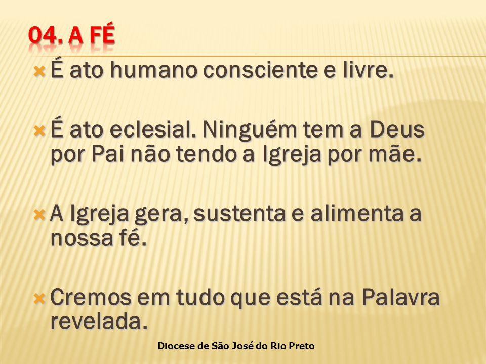 Diocese de São José do Rio Preto  É ato humano consciente e livre.