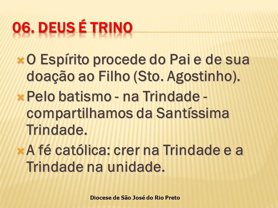 Diocese de São José do Rio Preto  O Espírito procede do Pai e de sua doação ao Filho (Sto.